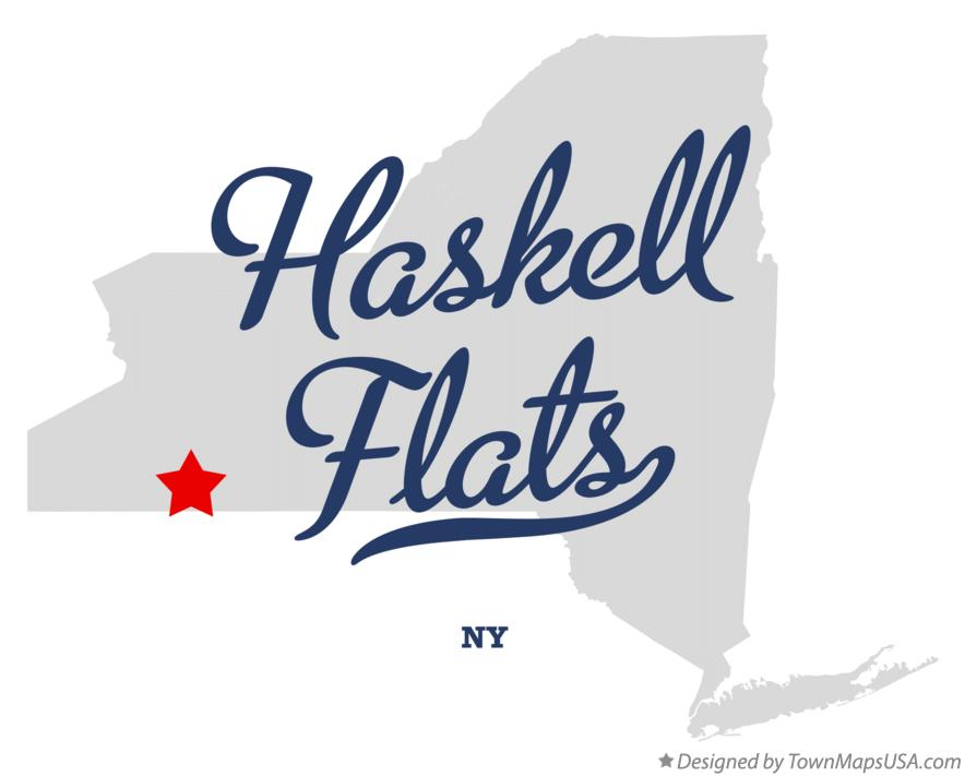Map of Haskell Flats New York NY