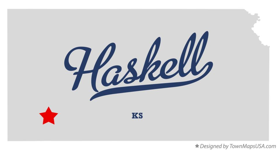 Map of Haskell Kansas KS
