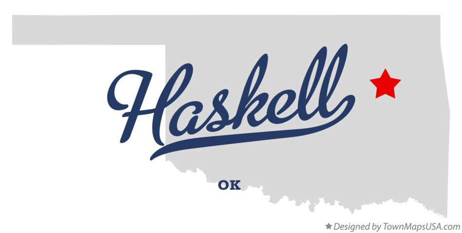 Map of Haskell Oklahoma OK