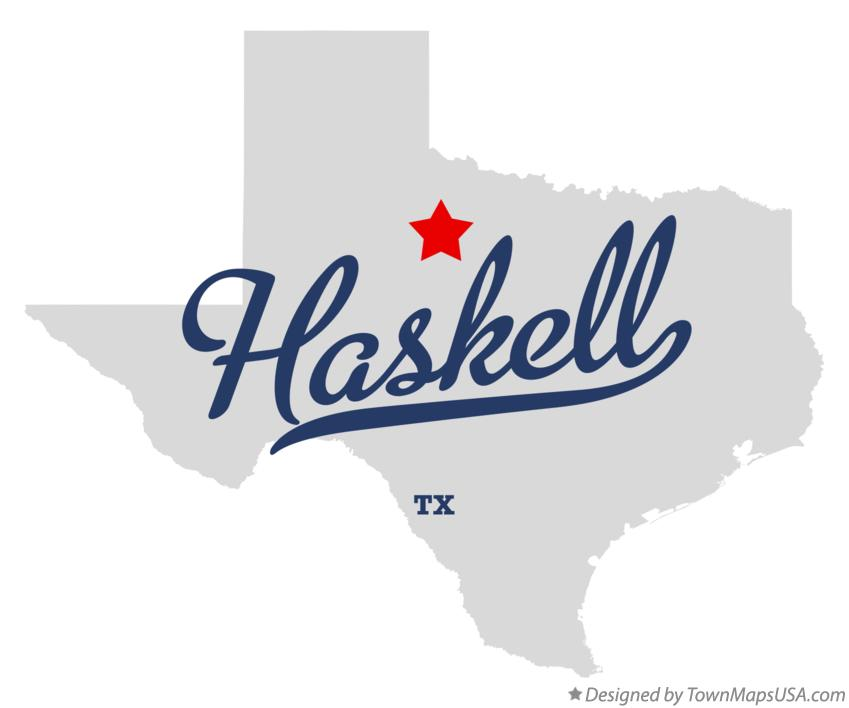 Map of Haskell Texas TX