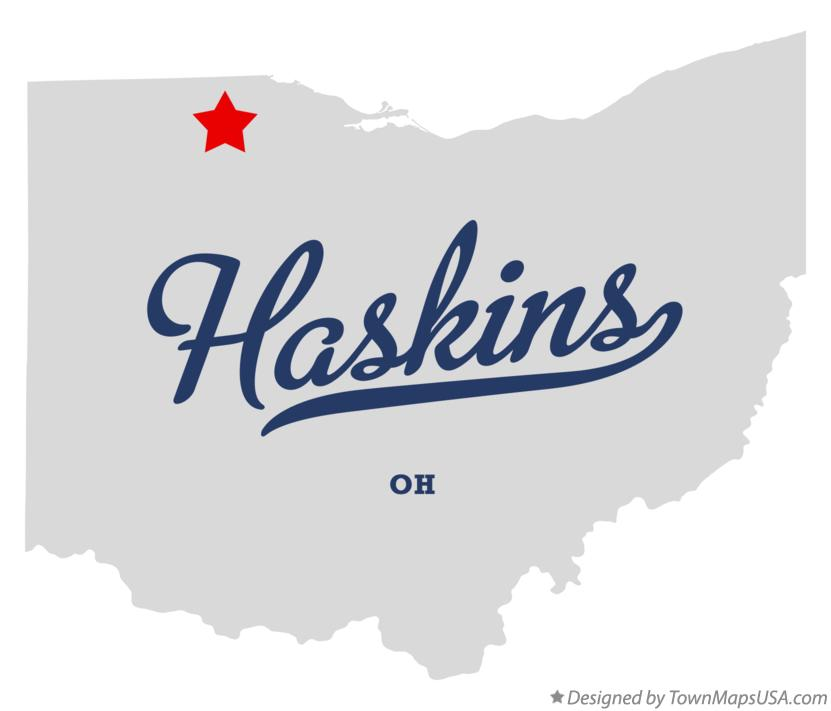 Map of Haskins Ohio OH