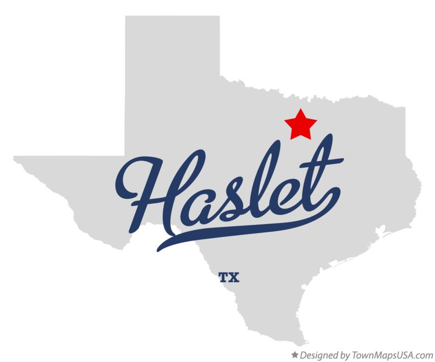 Map of Haslet Texas TX