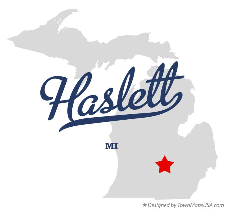 Map of Haslett Michigan MI