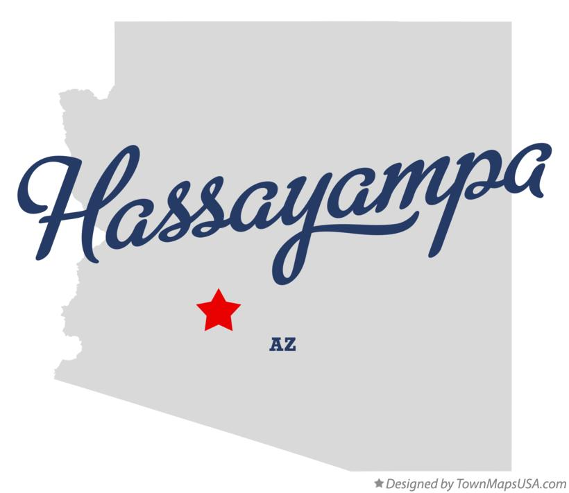 Map of Hassayampa Arizona AZ