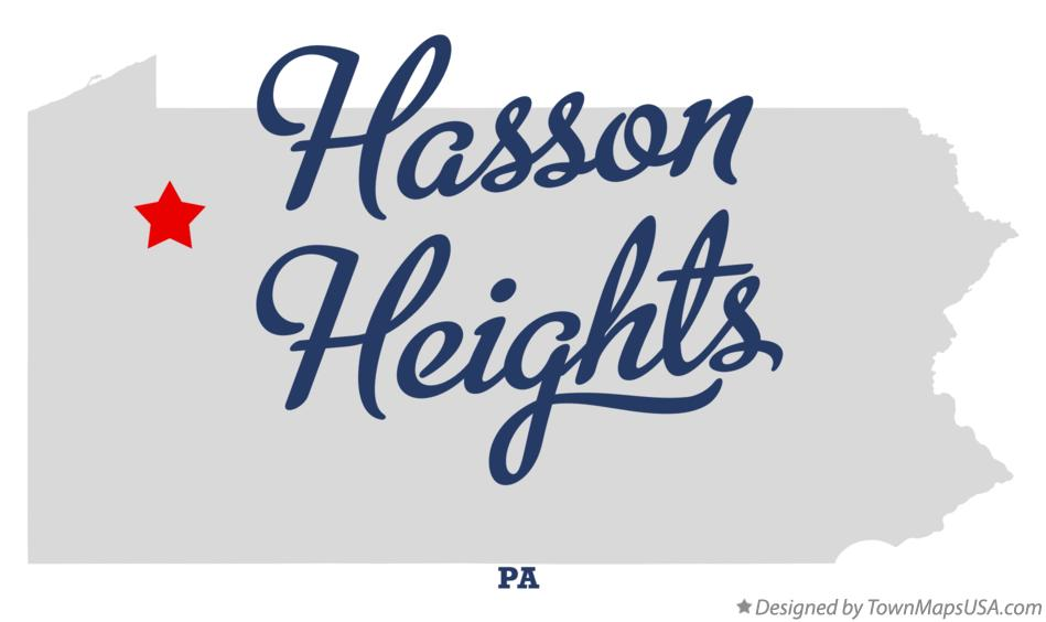 Map of Hasson Heights Pennsylvania PA