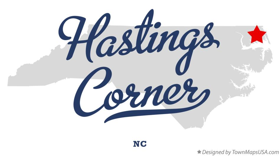 Map of Hastings Corner North Carolina NC