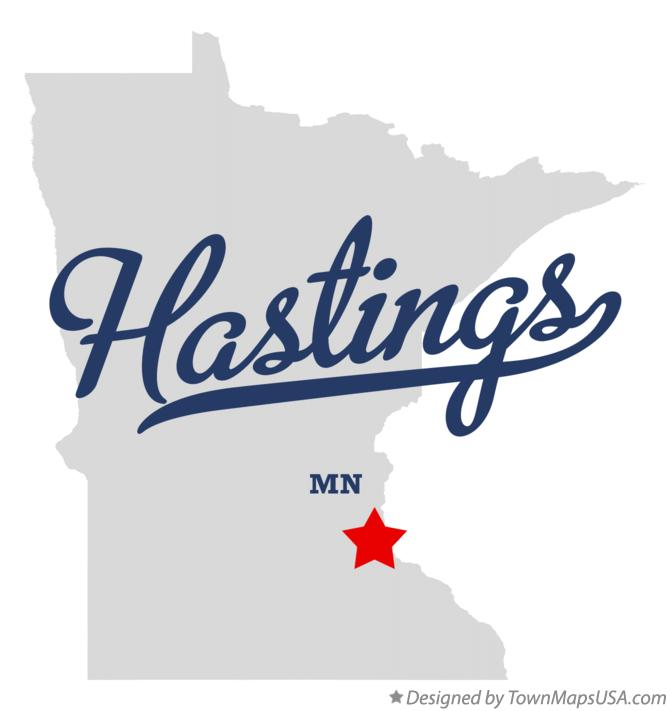Map of Hastings Minnesota MN