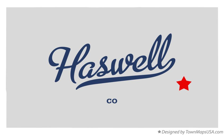 Map of Haswell Colorado CO