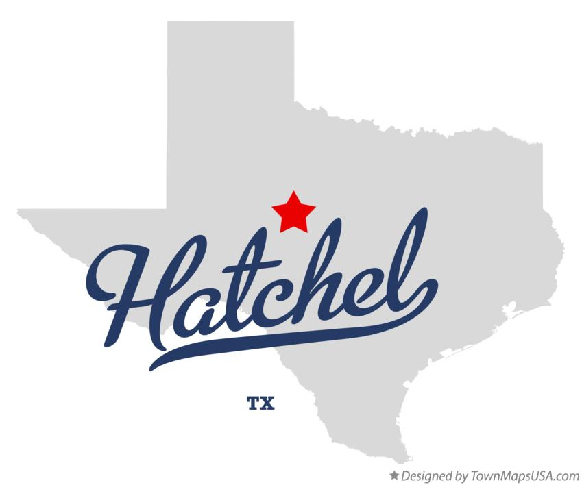 Map of Hatchel Texas TX