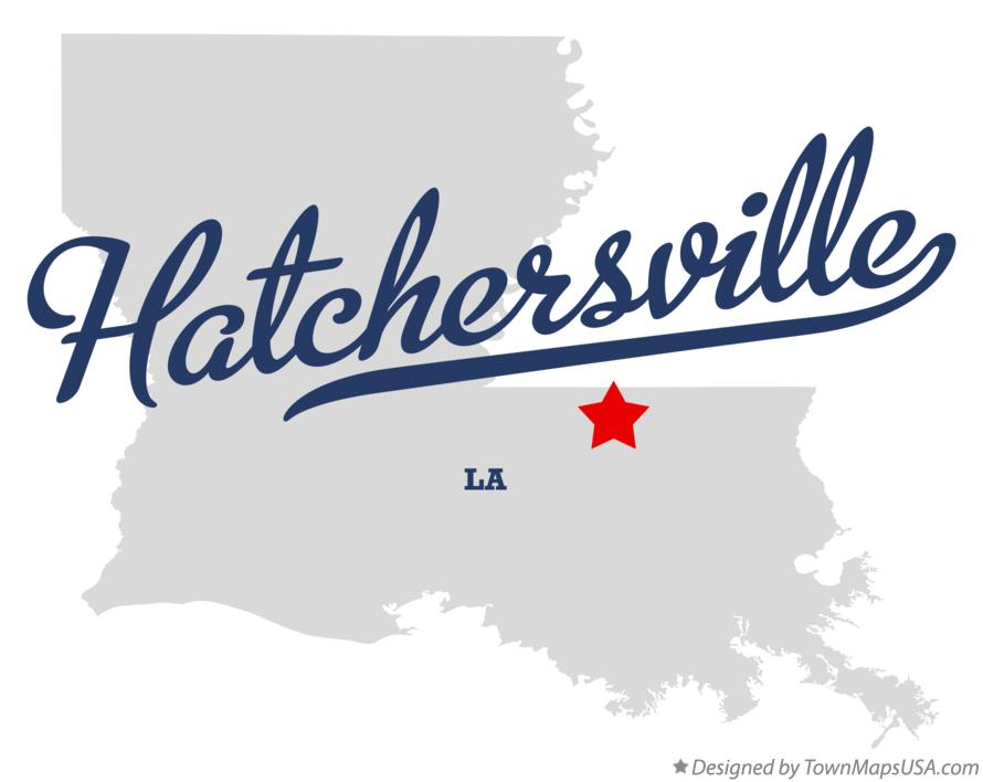 Map of Hatchersville Louisiana LA