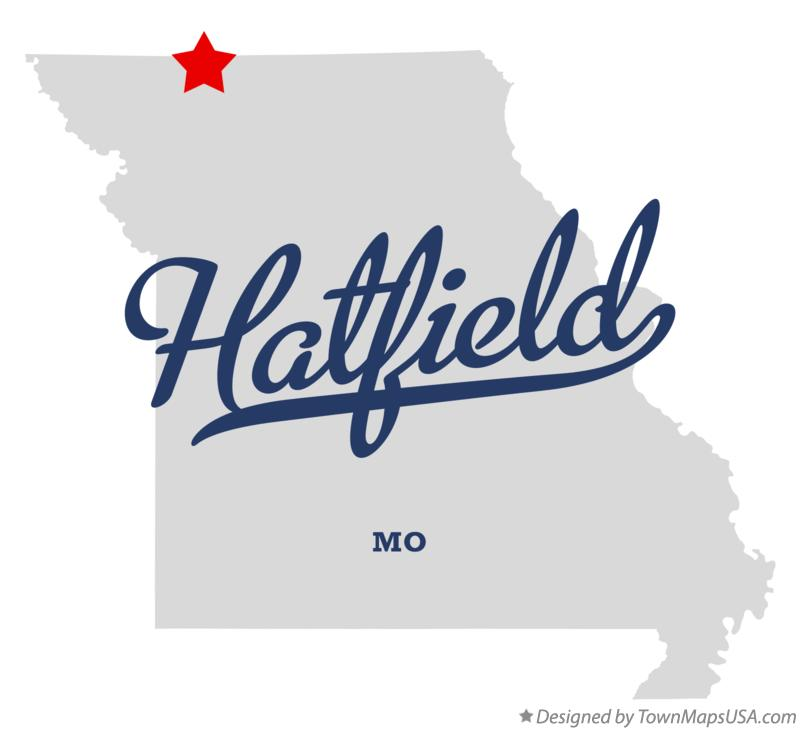 Map of Hatfield Missouri MO