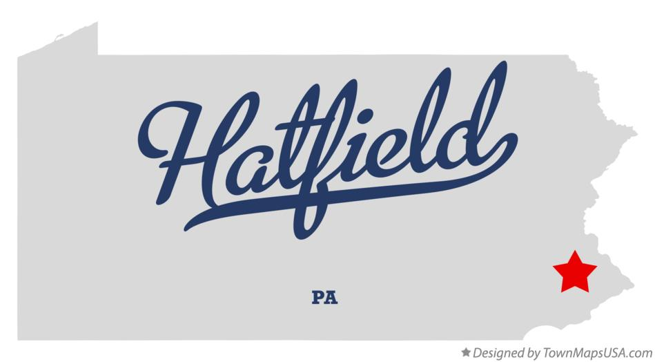 Map of Hatfield Pennsylvania PA