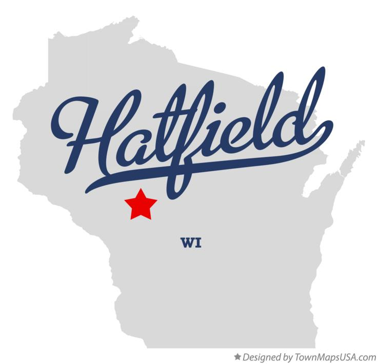 Map of Hatfield Wisconsin WI