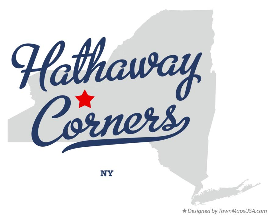 Map of Hathaway Corners New York NY