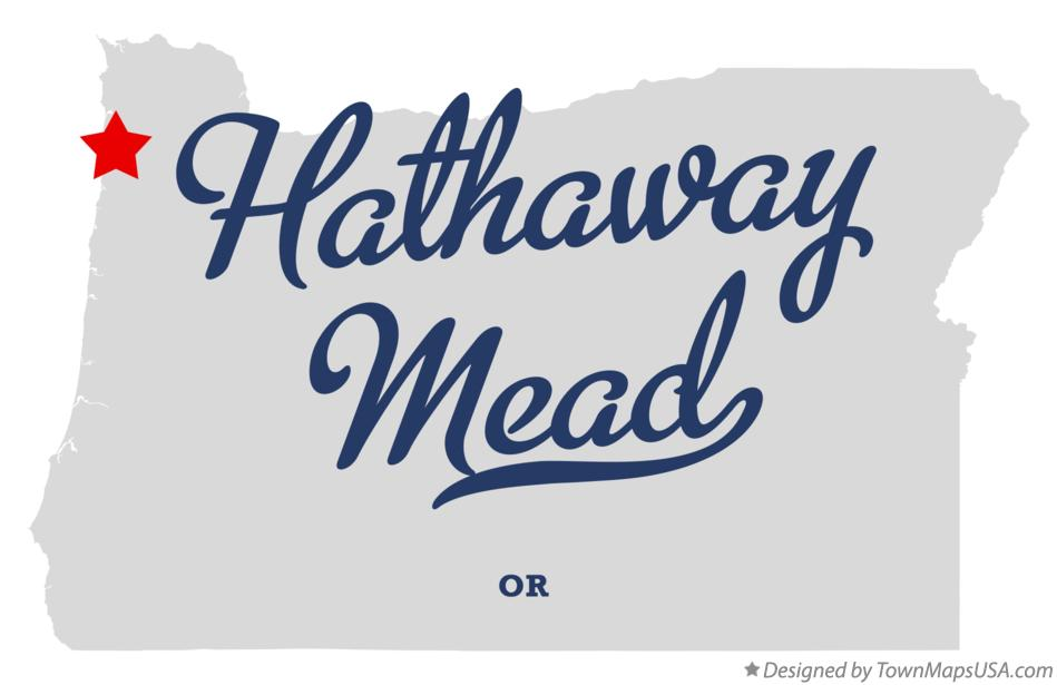 Map of Hathaway Mead Oregon OR