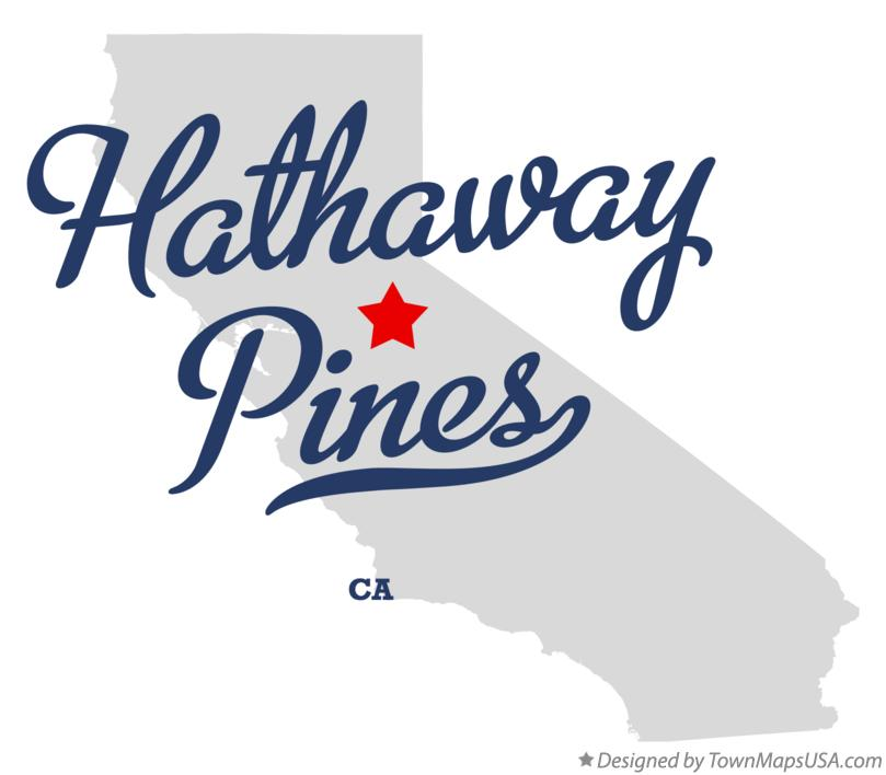 Map of Hathaway Pines California CA