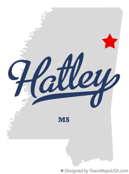 Map of Hatley Mississippi MS