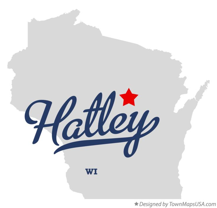 Map of Hatley Wisconsin WI