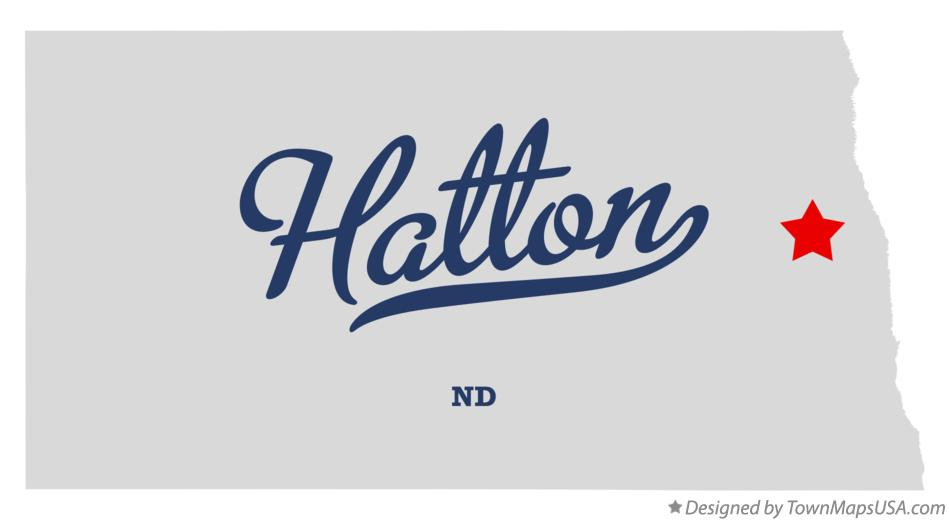 Map of Hatton North Dakota ND