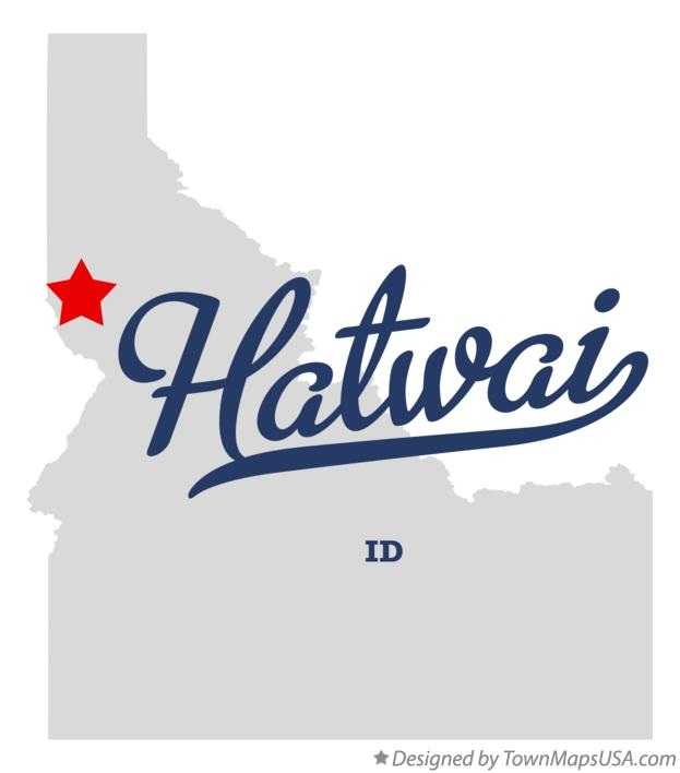 Map of Hatwai Idaho ID