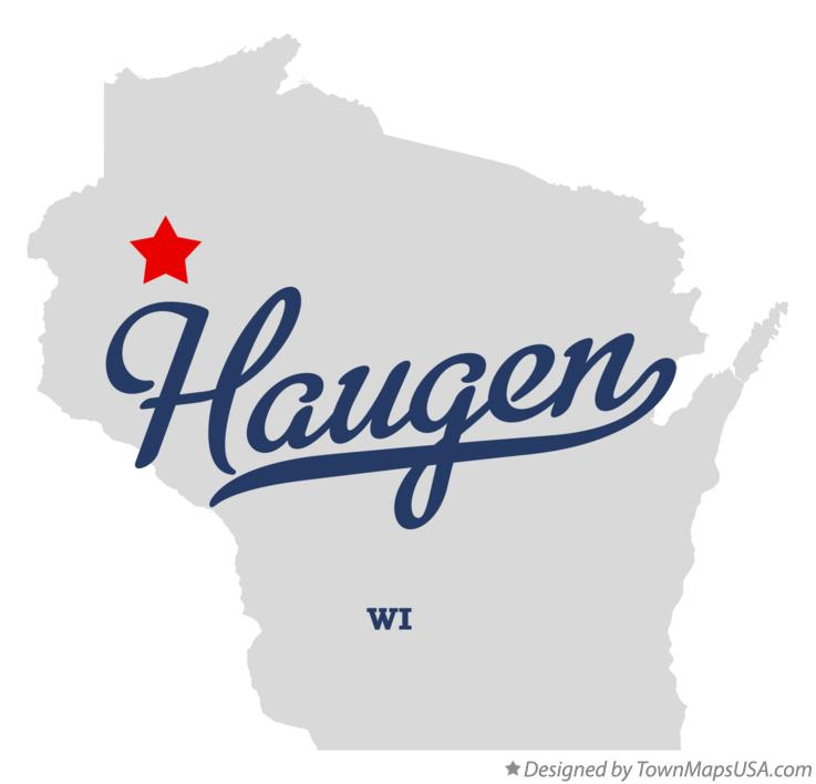 Map of Haugen Wisconsin WI