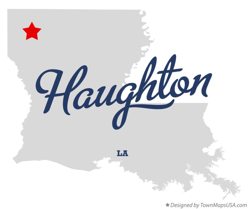 Map of Haughton Louisiana LA