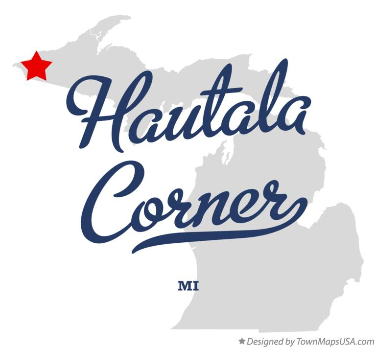 Map of Hautala Corner Michigan MI