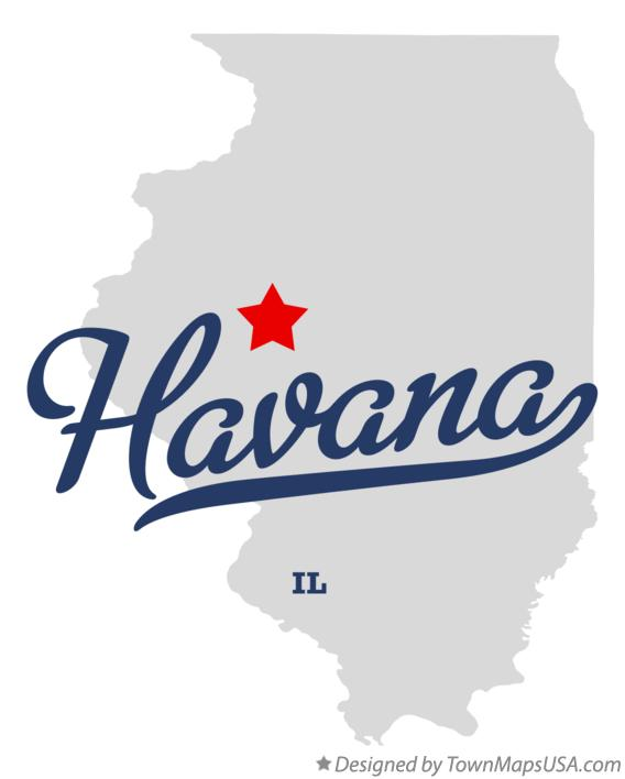 Map of Havana Illinois IL