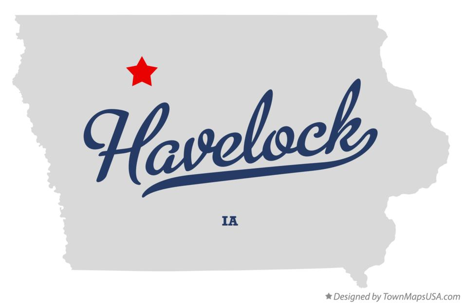 Map of Havelock Iowa IA