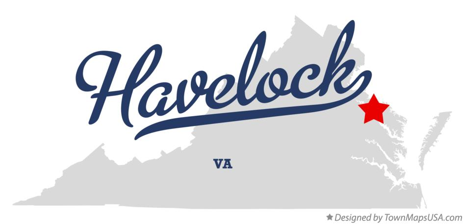 Map of Havelock Virginia VA