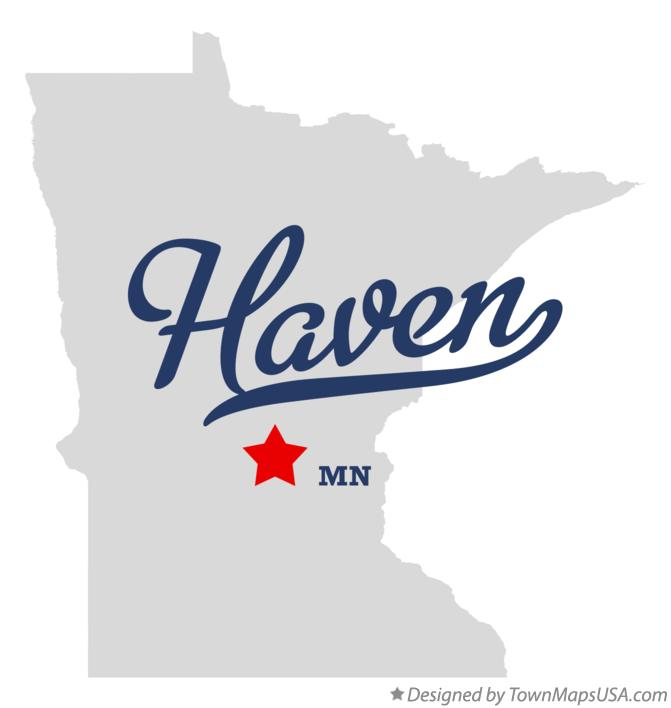 Map of Haven Minnesota MN