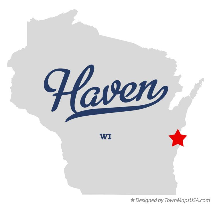 Map of Haven Wisconsin WI