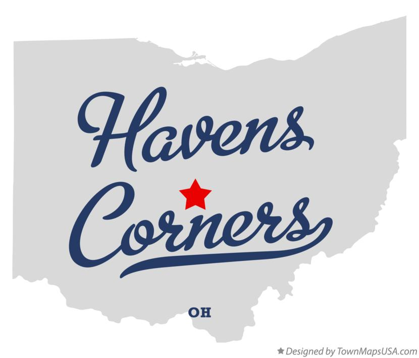 Map of Havens Corners Ohio OH