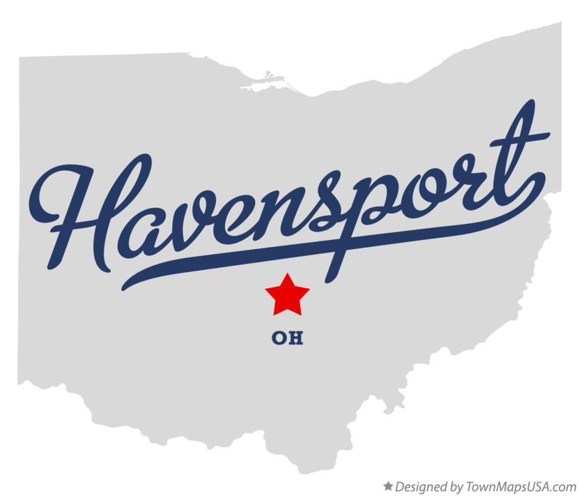 Map of Havensport Ohio OH