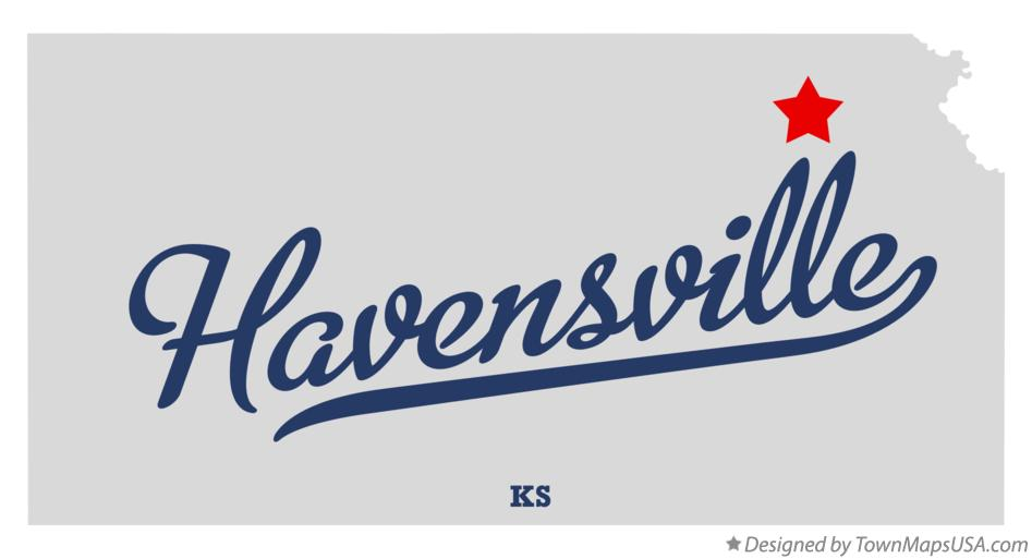 Map of Havensville Kansas KS