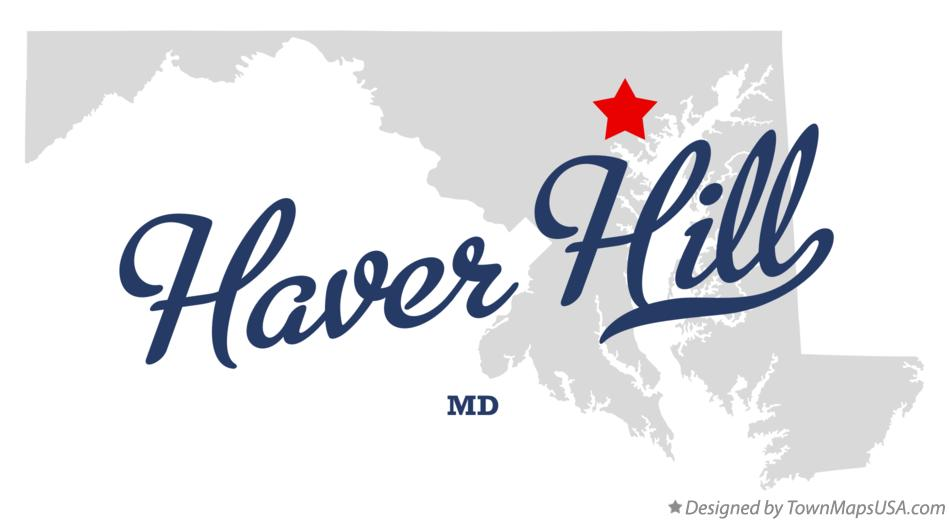 Map of Haver Hill Maryland MD
