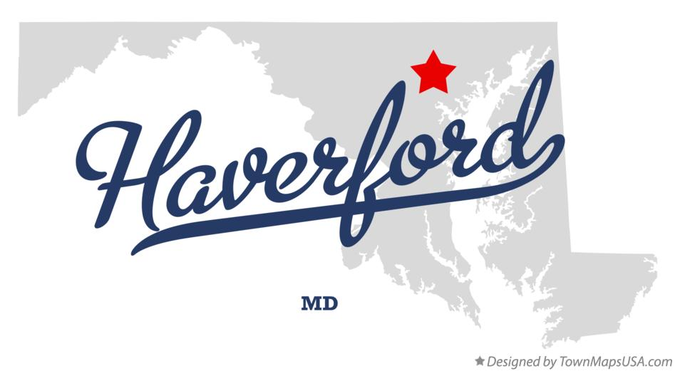 Map of Haverford Maryland MD