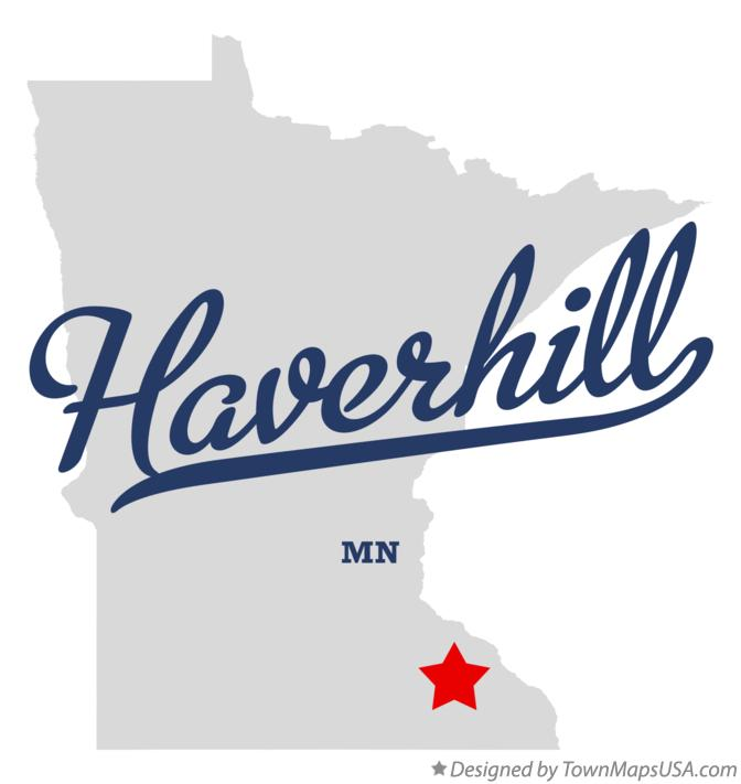 Map of Haverhill Minnesota MN