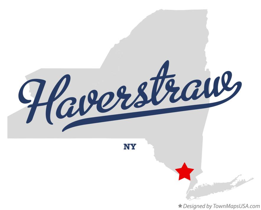 Map of Haverstraw New York NY
