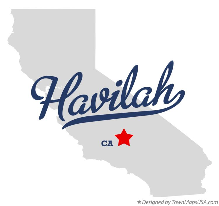 Map of Havilah California CA