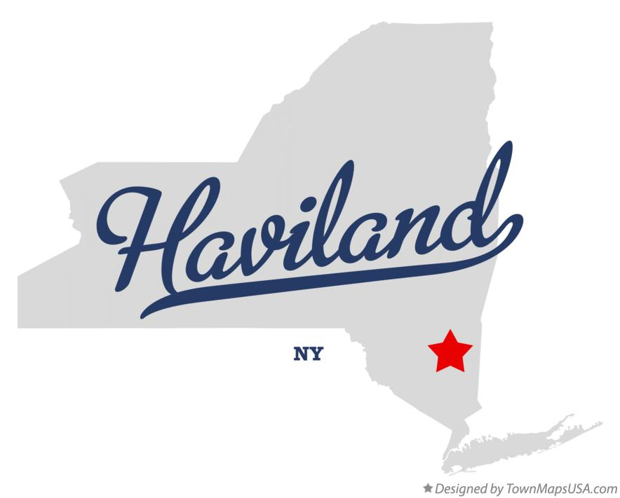 Map of Haviland New York NY