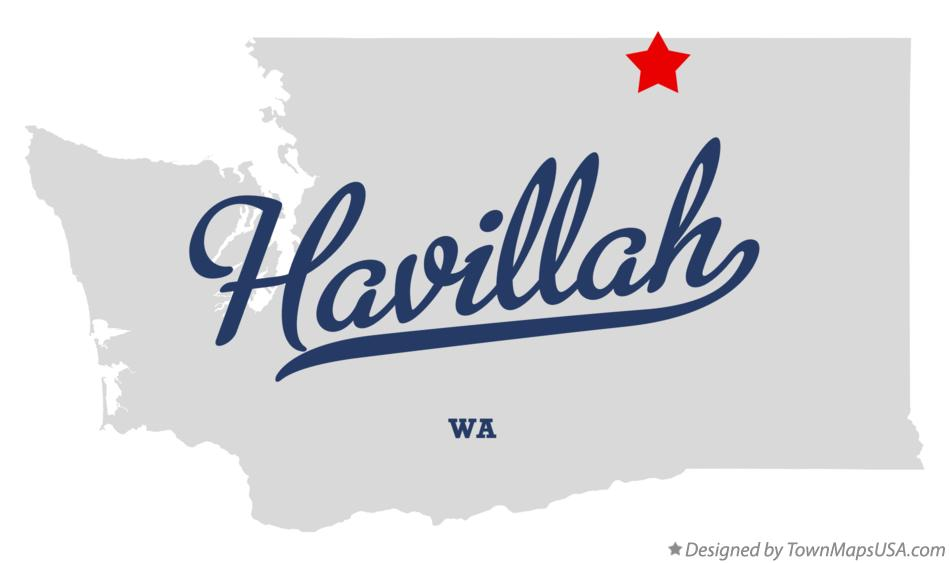 Map of Havillah Washington WA