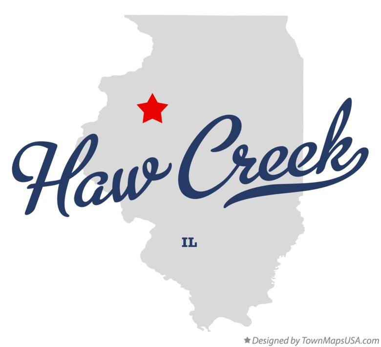 Map of Haw Creek Illinois IL