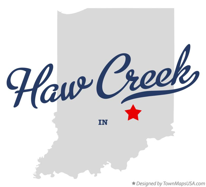 Map of Haw Creek Indiana IN