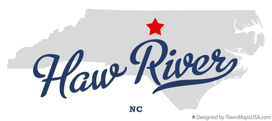 Map of Haw River North Carolina NC