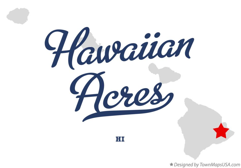 Map of Hawaiian Acres Hawaii HI