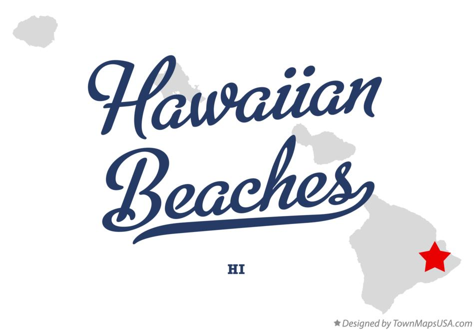 Map of Hawaiian Beaches Hawaii HI