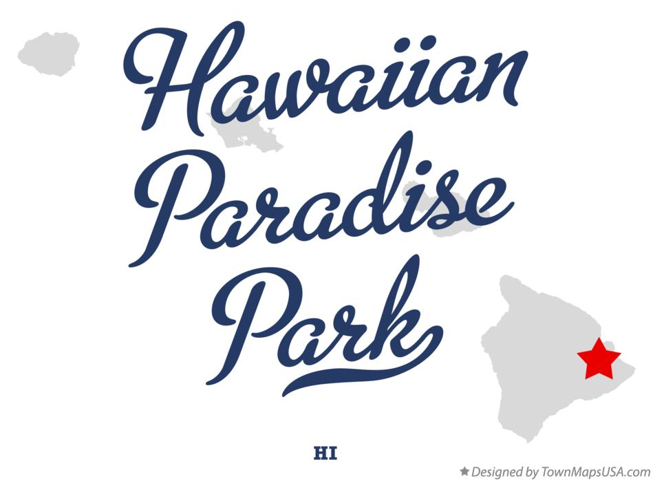 Map of Hawaiian Paradise Park Hawaii HI