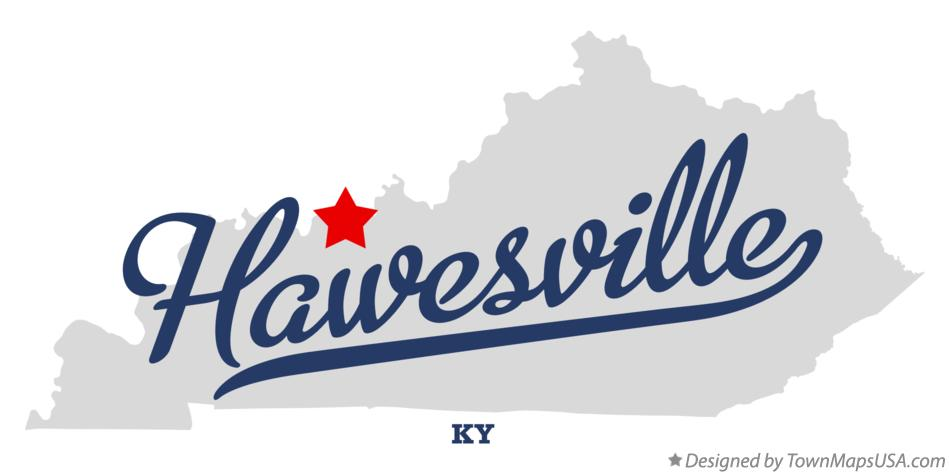 Map of Hawesville Kentucky KY