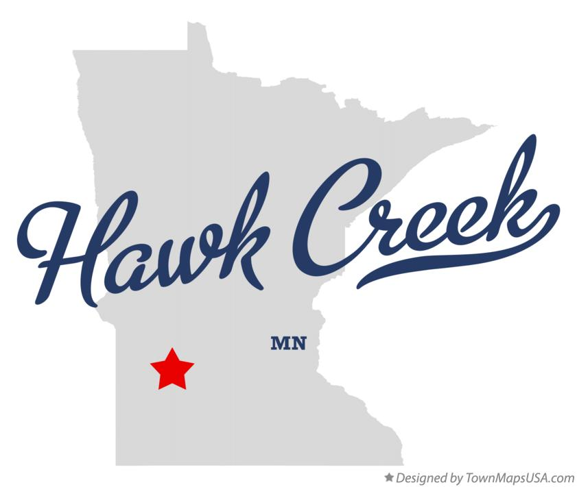 Map of Hawk Creek Minnesota MN